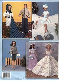 A TON of FREE crochet patterns for Barbie....all in one place......   These are Very  different from what you regularly see...very NICE...  AND .free pattern