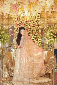 Latest Pakistani Engagement Dresses Collection For Bride Pakistani Engagement Dresses, Bridal Mehndi Dresses, Asian Bridal Dresses, Pakistani Wedding Outfits, Bridal Dress Design, Pakistani Bridal Dresses, Pakistani Wedding Dresses, Wedding Dresses For Girls, Bridal Outfits