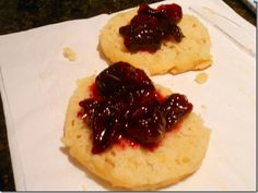Crumpets and cherry bourbon jam! What!?! Yes pa- leze ma'm!