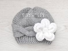 READY to Ship Newborn Baby Girl Hat Cable Knit Baby by TinySmiley, $15.00