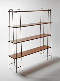 A free standing shelving unit achieves a minimal look, which is honest to its materials and usage. Adjustable and flat packable characteristics encourage easy living, which, true to the brand, distill the design to a functional but basic form. Modern Furniture, Home Furniture, Furniture Design, Copper Furniture, Shelf Furniture, Minimalist Furniture, Furniture Ideas, Home Design Decor, House Design