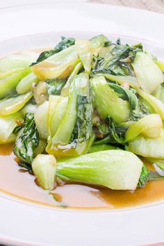 Stir Fried Bok Choy with Garlic and Ginger Recipe - Paleo and Vegan