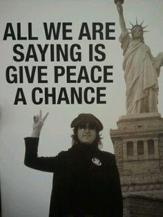 Give peace a chance ( The legend - Mr John Lennon ) ☑️❤️ Rock Roll, John Lennon Yoko Ono, Les Beatles, Beatles Quotes, Music Quotes, Life Quotes, Im A Dreamer, Give Peace A Chance, Thing 1