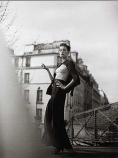 Marie-Sophie Wilson, Paris, 1989, by Peter Lindbergh