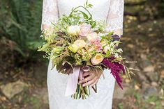 A pretty, romantic wedding held at Gum Gully Farm in Victoria, captured by White Rabbit Productions and featuring a sweet Peter Trends 'Dominica' lace gown. Corsage Wedding, Flower Bouquet Wedding, Floral Wedding, Farm Wedding, Wedding Day, Romantic Weddings, Beautiful Bride, Wedding Centerpieces, Lush