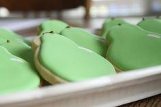 Perfect pear/pair sugar cookies