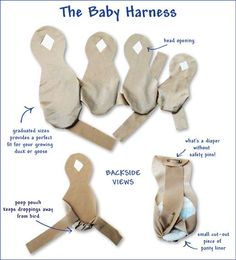 Diaper Harnesses for baby ducks to get them accustomed to wearing a diaper.