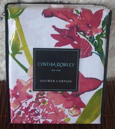 NEW~ Cynthia Rowley ~ Fabric Shower Curtain Giacomo Wild Fiore Vibrant Pink Teal #CynthiaRowley #Tropical