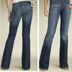 Citizens of Humanity by Jerome Dahan Gently used. Low waist flare Ingrid #002 Stretch 98% cotton First picture is the true color. My camera doesn't show the color very well. Citizens of Humanity Jeans Flare & Wide Leg