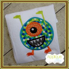MR ONE EYED MONSTER Applique Personalized Shirt