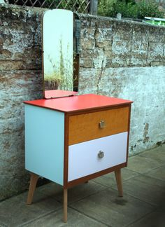 Upcycled vintage retro teak 1960s style by LaraBettencourtGomes