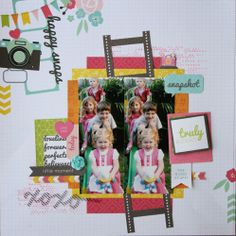 All About Scrapbooks - Kaisercraft Happy Snaps - by Fiona Johnstone