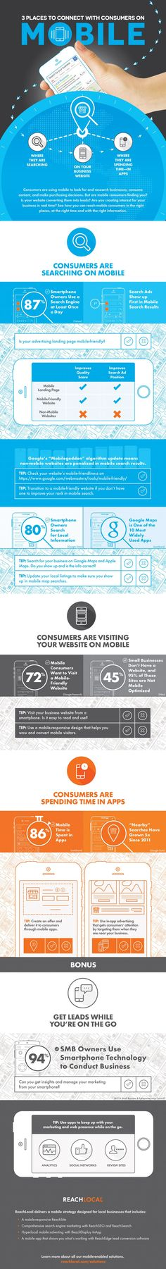 3 Places Small Businesses Can Connect with Consumers on Mobile - #Infographic #marketing