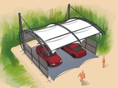 Membrane Structure, Tensile Structures, Roof Architecture, Camping Chairs, Civil Engineering, Canopy, Outdoor Gear, Gazebo, New Homes