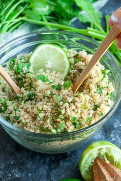 Get your fiesta on with this zesty cilantro lime quinoa. Gloriously gluten-free, vegan, and just plain delicious! Makes a great side or burrito bowl base!