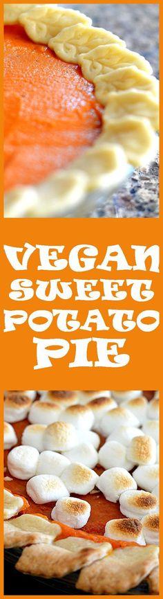 VEGAN SWEET POTATO PIE (and yes, those marshmallows ARE vegan :) -http://theveglife.com/vegan-sweet-potato-pie/ #ad #SameSilkySmoothTaste /walmart/ /lovemysilk/