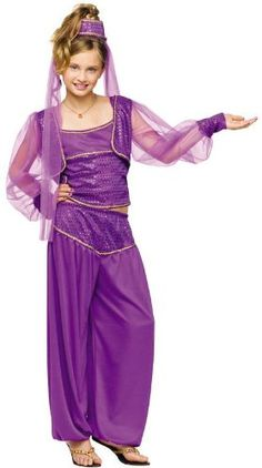 Apprehensive Kid Girl Aladdin Lamp Princess Jasmine Costume Fantasia Halloween Party Belly Child Cosplay Outfit Book Week Fancy Dress Novelty & Special Use