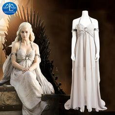 Are you a Game Of Thrones? this Game Of Thrones Daenerys Targaryen Costume Dress features accurate design and exquisite details, this Khaleesi Mother Of Dragons Costume is extremely worthy to collect. Game Of Thrones Cosplay, Game Of Thrones Costumes, Costume Dress, Cosplay Costumes, Halloween Costumes, Daenerys Targaryen Costume Halloween, Game Of Throne Daenerys, Dragon Costume, Sacred Feminine