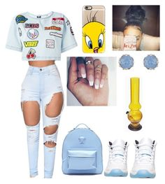 """""""I'm senile"""" by jadynbell ❤ liked on Polyvore featuring GCDS, Retrò, Casetify, Accessorize and Versace"""