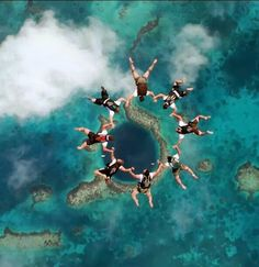 Bucket list - skydiving over the Blue Hole, Belize| See More Picz: