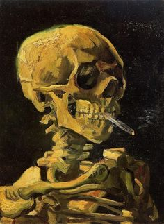 Van Gogh, Vincent (1853-1890) Skull with Burning Cigarette - Oil on canvas 1885