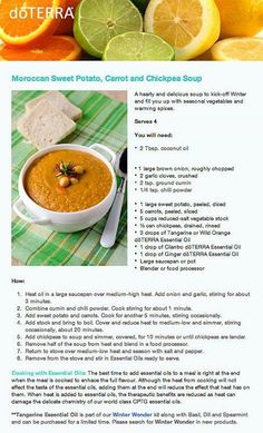 Moroccan Sweet Potato, Carrot, and Chickpea Soup