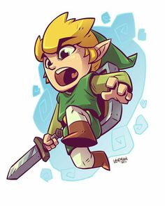 Link Chibi - Zelda - Nintendo By Derek Laufman Cartoon Kunst, Comic Kunst, Cartoon Art, Comic Art, Draw Chibi, Anime Chibi, Chibi Drawing, Drawing Sketches, Comic Character