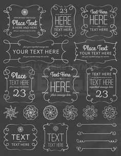 frames and borders This unique set of chalkboard digital frames are perfect for your small commercial or personal project. High quality JPEG, PNG and Vector files included. Chalkboard Border, Chalkboard Doodles, Blackboard Art, Chalkboard Lettering, Chalkboard Designs, Framed Chalkboard, Chalkboard Drawings, Chalkboard Background, Chalkboard Ideas