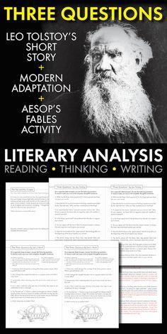 10th Grade English, High School English, English Class, Teaching Short Stories, High School Literature, Leo Tolstoy, Meaning Of Life, School Days, Language Arts