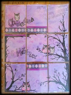 """Pocket Letters """"chouette & hiboux"""" (owls)"""