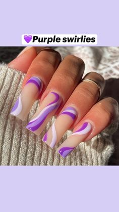Acrylic Nails Coffin Pink, Long Square Acrylic Nails, Acrylic Nail Art, Coffin Nails, Dope Nail Designs, Cute Acrylic Nail Designs, Purple Nail Designs, Glow Nails, Fire Nails