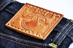 Rare Sage Denim - Amazing leather patch ★★★★★★★★★★★★★★★ ⓀⒾⓃⒼⓈⓉⓊⒹⒾⓄⓌⓄⓇⓀⓈ