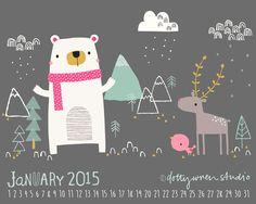 dottywrenstudio: calendar...January 2015