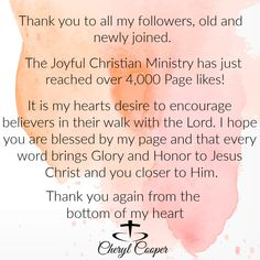The Joyful Christian Ministry. My desire is to encourage those who seek a deeper relationship with Our Lord Jesus Christ. Christian Facebook, You Are Blessed, Facebook Sign Up, Joyful, Ministry, Encouragement, Bible, Inspirational Quotes, Words