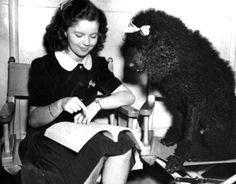 Shirley Temple and her Poodle