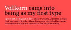 Vollkorn font - Google font