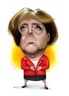 Angela Merkel | Caricature | Illustration