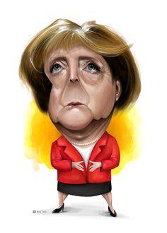 Angela Merkel   Caricature   Illustration
