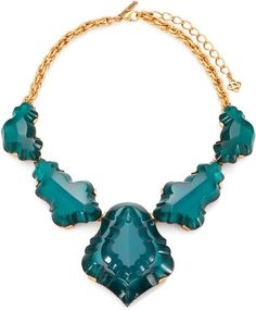 Faceted Abstract Bib Necklace - Lyst