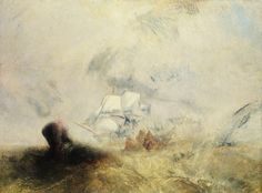 Joseph Mallord William Turner (British, 1775–1851). The Whale Ship, ca. 1845. The Metropolitan Museum of Art, New York. Catharine Lorillard Wolfe Collection, Wolfe Fund, 1896 (96.29) | Turner painted seascapes throughout his career, and many of his late works, such as this one, highlight in an almost abstract way the dramatic power of the sea.