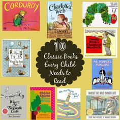 10 Classic Books Every Child Needs to Read | #eBayGuides #ad  via @mommalewsblog