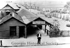 The Central of Georgia's Tybee Depot, ca. 1900.  Photo courtesy of Georgia Historical Society.