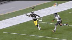 GIF: Antonio Brown's sick one-handed touchdown catch - Gamedayr