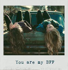 You are my #BFF ❤️. #PolaroidFx #Polaroid #Frame #Filter #Vintage #Girls #Children #Kids #BestFriends #Hair #Friendship #Trust #Love