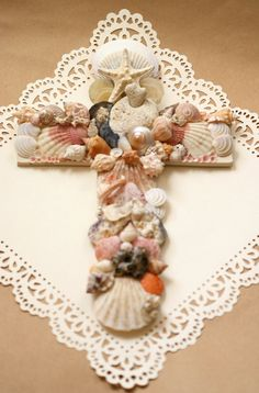 Shell Cross  Be as good as these children    by gahangirls on Etsy, $75.00