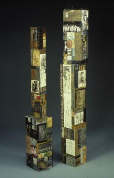 Deborah Putnoi Totem Installation at Clark Gallery Lincoln, MA Artist Inspiration, Encaustic Art, Wood Art, Art Matters, Art Inspiration, Contemporary Art, Contemporary Sculpture, Altered Art, Sculpture Lessons