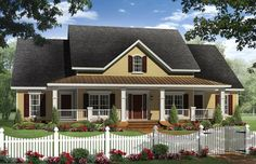 The Berkshire House Plan - 1028  like the outside & the floor plan