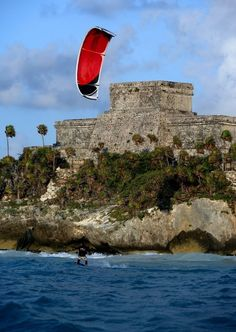 The Mayan Ruins of Tulum from an extreme view.  | via Tumblr