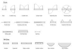 sliding door symbol floor plan - Google Search