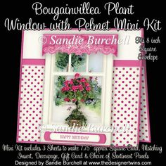 Bougainvillea Plant Window with Pelmet Mini Kit : The Designer Twins ...where creativity encounters quality and value